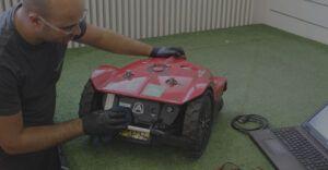 manutenzione tecnica robot da giardino